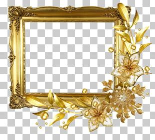 Flower Drawing Gold PNG