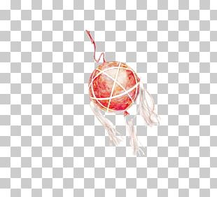 Red Christmas Ornament Flower Ball PNG