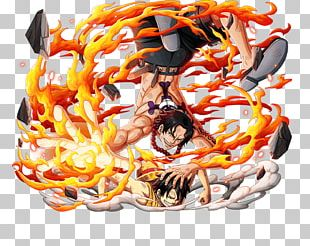 Monkey D. Luffy Portgas D. Ace One Piece Treasure Cruise Edward Newgate PNG
