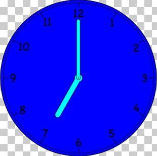 Electric Blue Clock Cobalt Blue Circle Point PNG