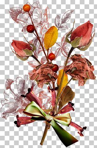 Digital Scrapbooking Autumn Floral Design PNG