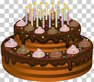 Birthday Cake Chocolate Cake Frosting & Icing Sugar Cake PNG