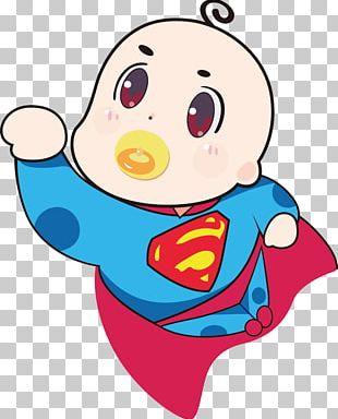 Superman Cartoon Illustration PNG