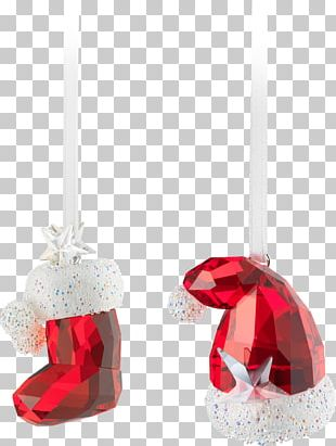 Santa Claus Christmas Ornament Swarovski AG Hat PNG