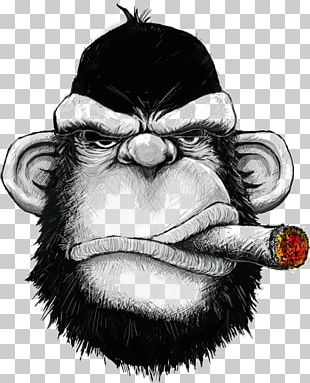 T-shirt Hoodie Cigar Monkey Iron-on PNG