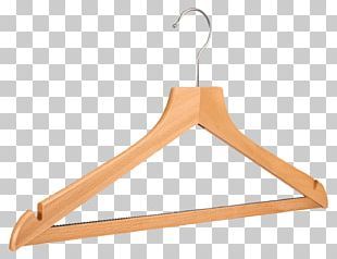 Wooden Clothes Hanger PNG
