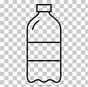 Fizzy Drinks Water Bottles Drawing Coloring Book PNG