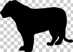 Cat Silhouette Black Panther Lion PNG