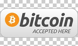 Brand Bitcoin Accepted Here Sticker Logo Product Design PNG