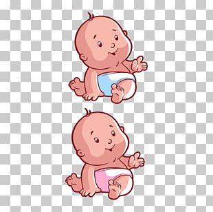 Diaper Infant Cartoon Illustration PNG