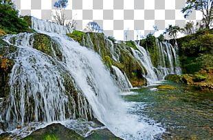 Tianhetan Scenic Area Waterfall PARA Lake Resort PNG