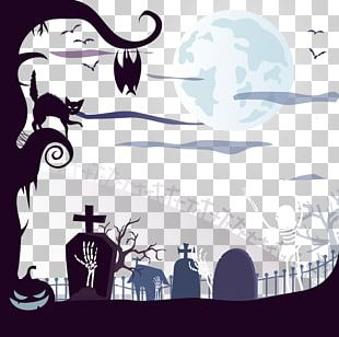 Halloween Cemetery Euclidean Illustration PNG
