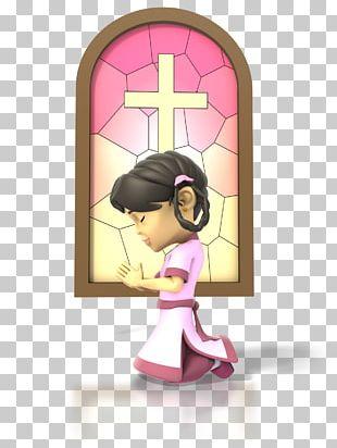Praying Hands Girl Prayer Christian Church PNG