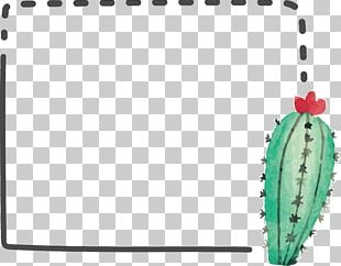Cactaceae Watercolor Painting Computer File PNG
