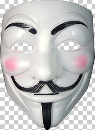 Guy Fawkes Mask Anonymous V PNG