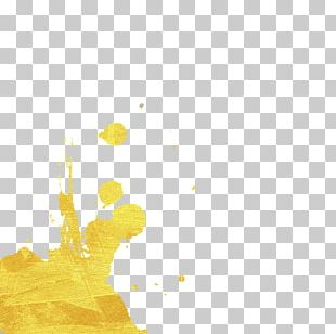 Watercolor Painting Gold PNG
