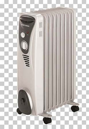 Oil Heater Heating Radiators Black & Decker PNG