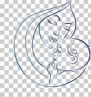 Drawing Mother Line Art PNG