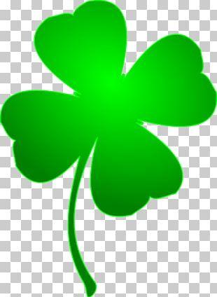 Ireland Saint Patricks Day Four-leaf Clover PNG