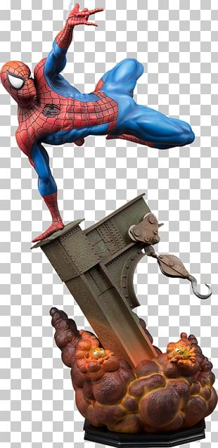 Spider-Man Sideshow Collectibles Statue Sculpture Marvel Comics PNG