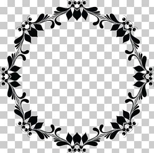 Flower Frames Black And White PNG