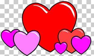 Love Heart Cartoon Drawing PNG