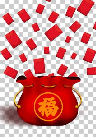 Red Envelope Fukubukuro Chinese New Year PNG