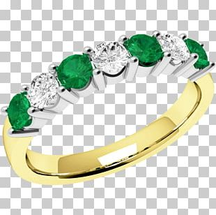 Emerald Eternity Ring Diamond Brilliant PNG