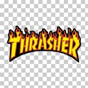Thrasher Logo Sticker Brand Sign PNG