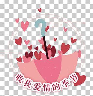Umbrella Heart Rain Love PNG