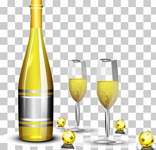 White Wine Champagne Bottle PNG