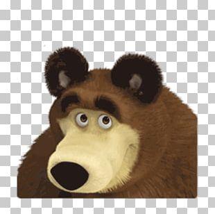 Bear Masha Sticker Telegram Snout PNG