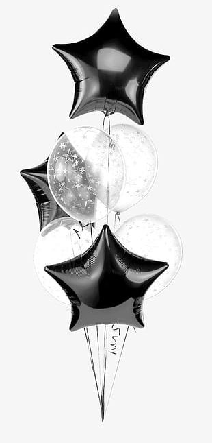 Beautiful Five-pointed Star Balloon PNG