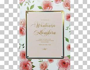 Floral Design Wedding Invitation Greeting & Note Cards Frames PNG