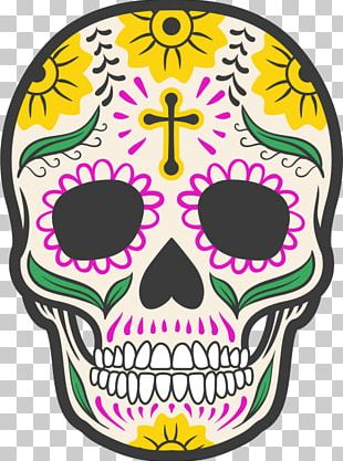 Calavera Day Of The Dead Skull Art Mexican Cuisine PNG