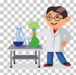Cartoon Chemistry Classroom Illustration PNG