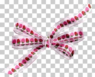 Ribbon Bow Tie Pink M PNG