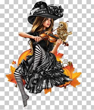 Costume Witchcraft Halloween Woman PNG