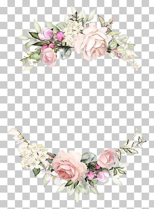 Wedding Invitation Rose Wreath Paper Floral Design PNG