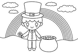 Ireland Coloring Book Leprechaun Saint Patrick's Day Child PNG