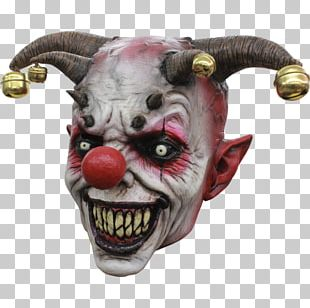 Latex Mask Halloween Costume Evil Clown PNG