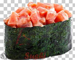 Sushi Makizushi California Roll Smoked Salmon Japanese Cuisine PNG
