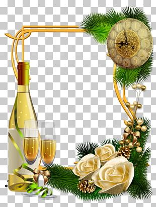 New Year's Day Christmas New Year Champagne PNG