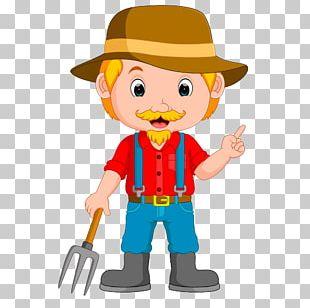 Cartoon Farmer Illustration PNG