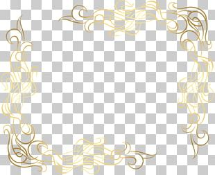 Text Gold Flower PNG