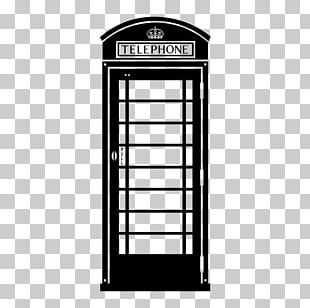 Telephony Telephone Booth Red Telephone Box Sticker PNG