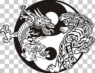 Tiger Yin And Yang Chinese Dragon Tattoo PNG