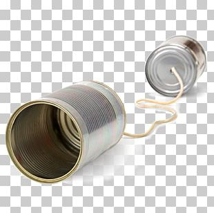 Tin Can Telephone Communication PNG