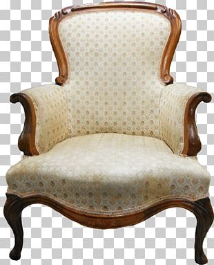 Loveseat Upholstery Chair Antique Furniture PNG