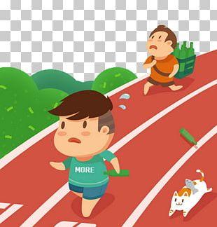 Running Illustration PNG